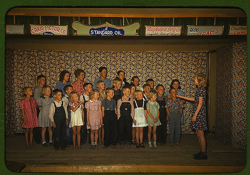 """School children singing, Pie Town, New Mexico"" Courtesy of Library of Congress"