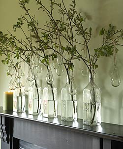 Recycled Glass Drops on a String